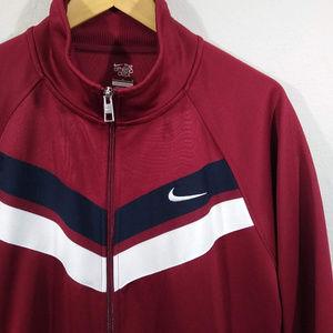 Nike Athletic Dept. Full Zip Red Track Jacket